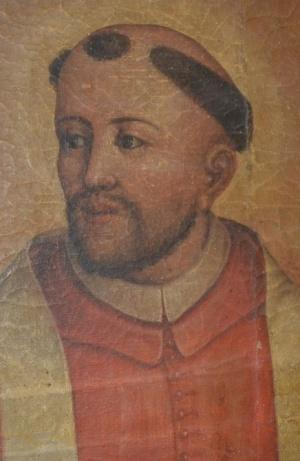 Detalle del rostro de San Ramón