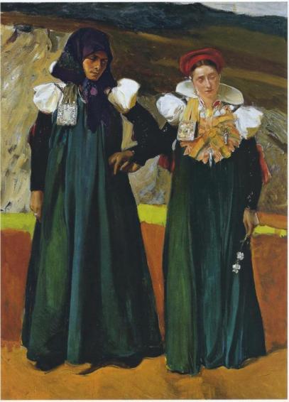 Trajes del Valle de Ansó y La Jota, Joaquín Sorolla, 1914.